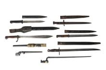 A group of Eight bayonets