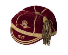 A Royal Air Force velvet and gilt braid sports cap