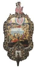 A large double sided Greek processional icon