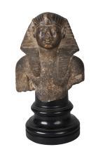 An Egyptian taste Grand Tour stone head fragment