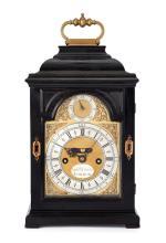 An 18th century ebony table clock by Daniel Delander