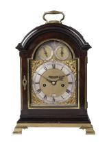 A George III mahogany and brass mounted striking bracket clock by John Blake