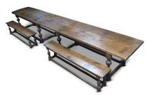 A monumental oak refectory table