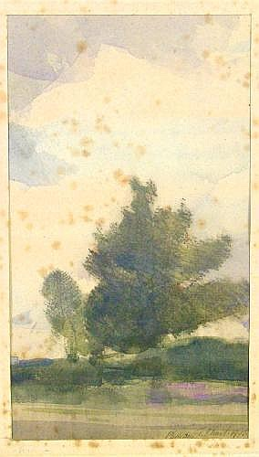 William Thomas Ward b.1918- Sketch of a tree;