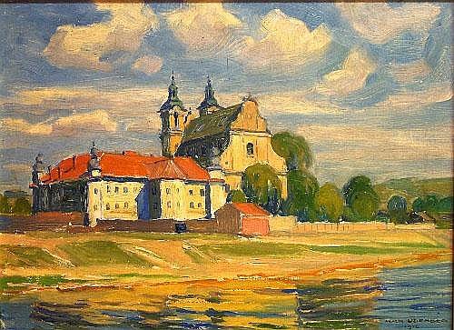 Henryk Uziemblo, Polish 1879-1949- Monastery by a