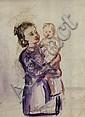 Vera Efimovna Pestel, Russian 1886-1952- Portrait, Vera Efremovna Pestel', Click for value