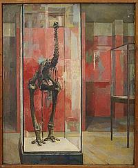 """Peter Weaver RI, British b.1927- """"Skeletal Bird"""","""