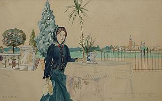 "Peter Weaver RI, British b.1927- ""Ellie Millais at"