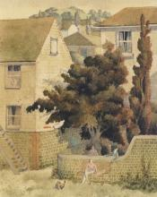 Simon Palmer, British b. 1956-The Denial; watercolour, signed and titled in