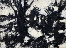 John Virtue, British b.1947-Landscape No. 256, 1992-93; ink, gouache and ac