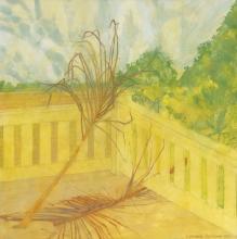 Leonard Rosoman OBE RA, British 1913-2012-Palm Fronds on a Balcony, Key Wes