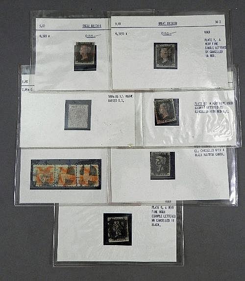 Stamp collection; Antigua 1884-86, mauve, unused;