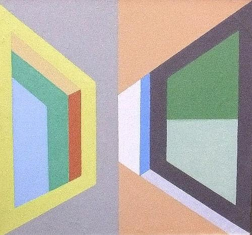 Leonid Borisov, Russian b.1943- Untitled geometric