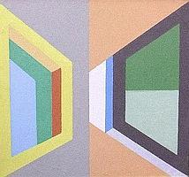Leonid Borisov, Russian b.1943- Untitled geometric