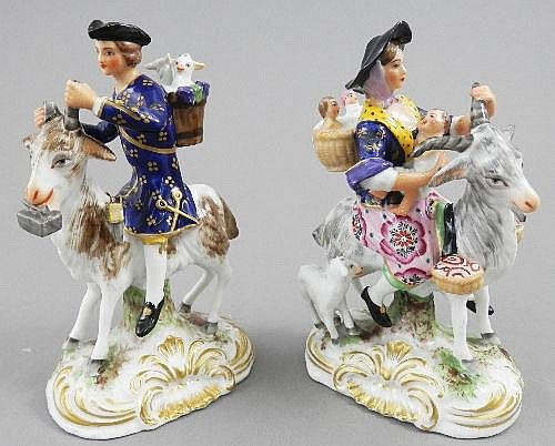 A pair of Derby figures of the Welch Tailor and
