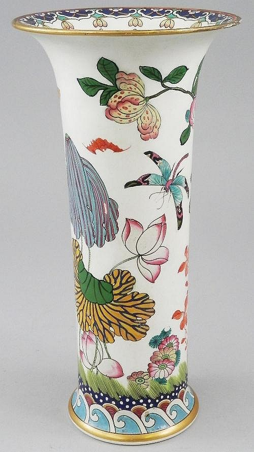 An Oriental beaker vase, late 19th Century, the