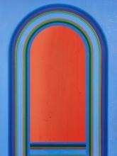 Derek Hirst, . British 1930-2006- . Untitled composition; . oil on canvas, l