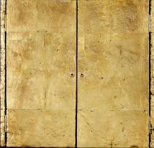 Derek Hirst. British 1930-2006- . Puerta De Oro. No.IX, 1997-98; . mixed medi