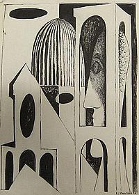 Jan Brazda, Swedish b.1917- Architecture and head;