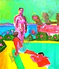 Irene Lesley Main, Scottish fl 1970's- Bathers by, Irene Lesley Main, Click for value