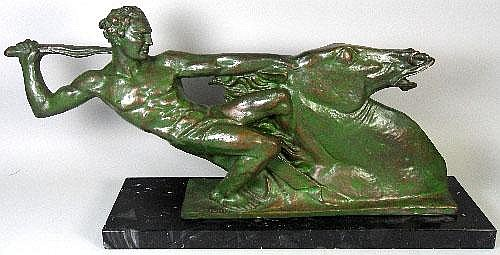 Alberto Bazzoni (1889-1973), bronze male nude and