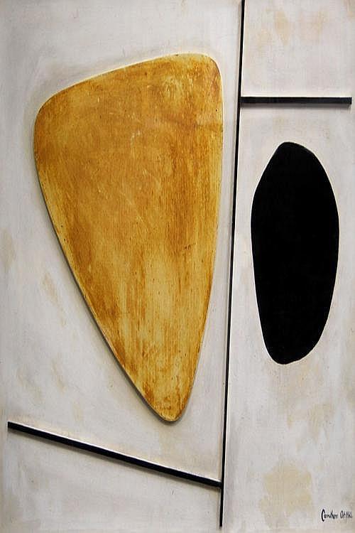 Robert A Carruthers b.1925- Abstract; mixed media