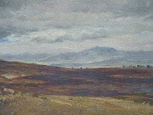 Charles Grey RHA 1808-1892- Highland landscape;
