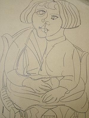 Aldo Brizzi, Italian 1907-1957- Seated girl;