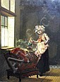 Pieter Willem Sebes, Dutch 1827-1906- Mother and