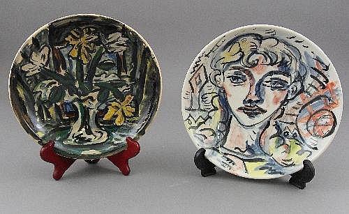 Adrian Wiszniewski, British, b.1958, two plates,