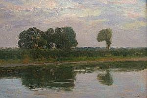 Lajos Szlanyi, Hungarian 1869-1949- River