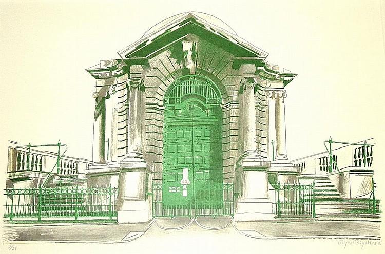 Glynn Boyd Harte b.1948- Portico; lithograph