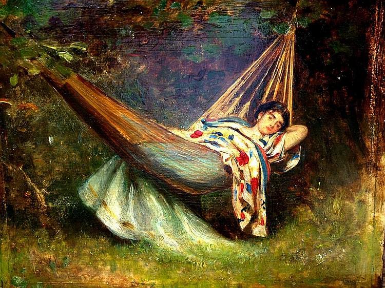 Philip Hermogenes Calderon RA 1833-1898- Girl on a