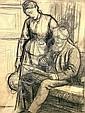 Arthur Hughes 1932-1915- Study for a portrait of