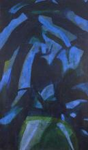 Pamela Clarkson-Kwami, British b.-1946- Night Trees I, 1978-82; oil on canvas, signed and dated o