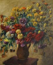 Andor Basch, Hungarian 1885-1944- Still life of flowers,