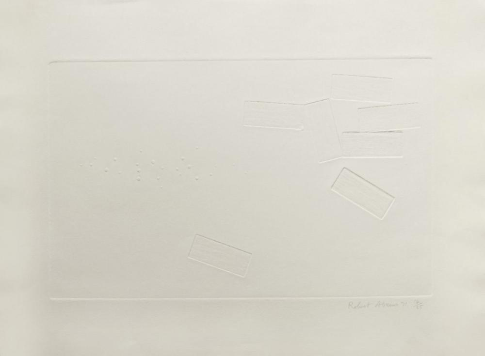 Robert Adams, British 1917-1984- White Print No.2, 1971; engraving on wove, signed dated and num