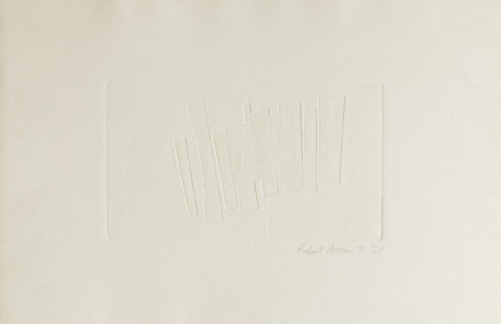 Robert Adams, British 1917-1984- White Print No.1, 1971; engraving on wove, signed dated and numb