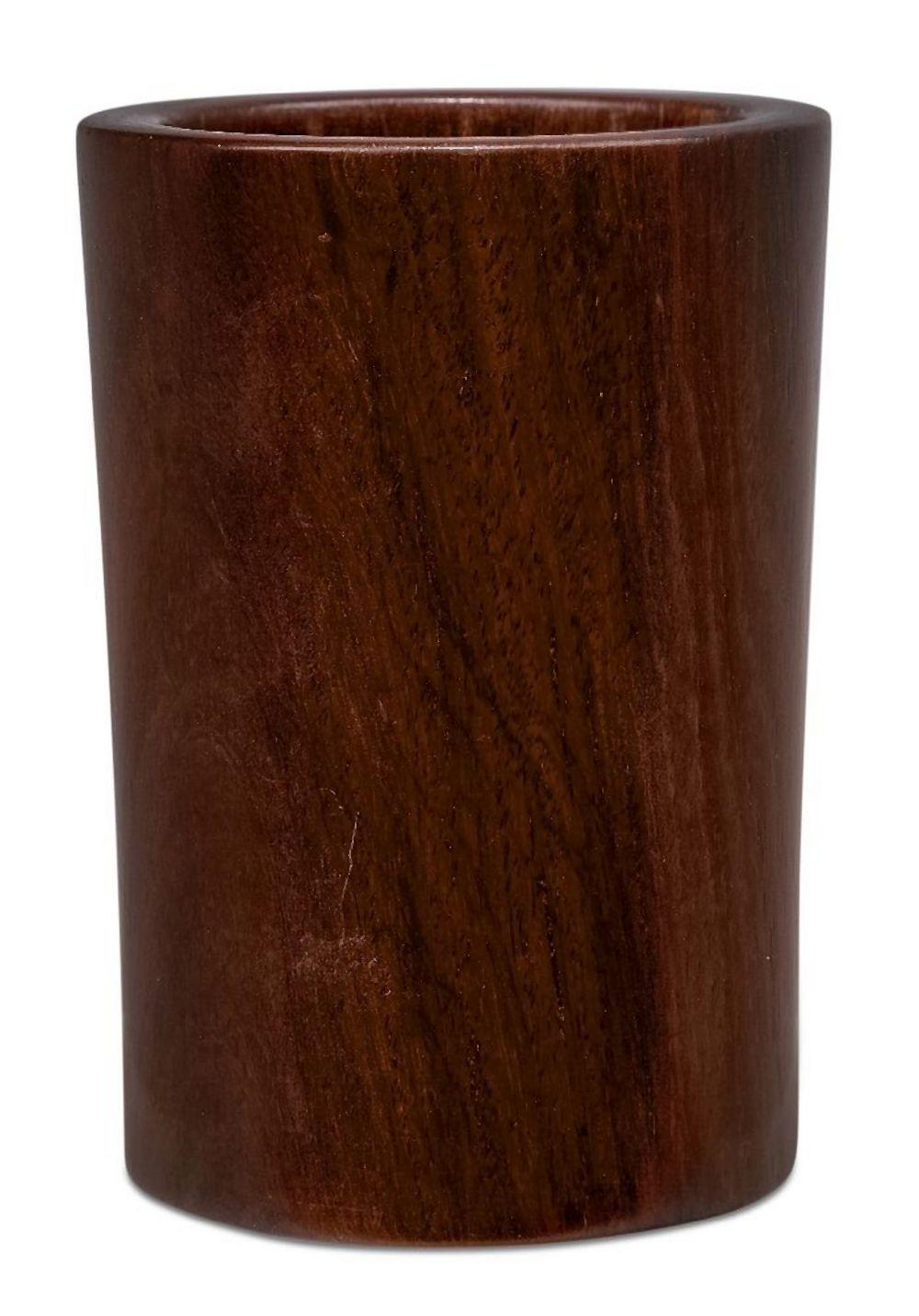 A Chinese huali wood bitong, 18th century, 12cm hgih Please refer to department for condition