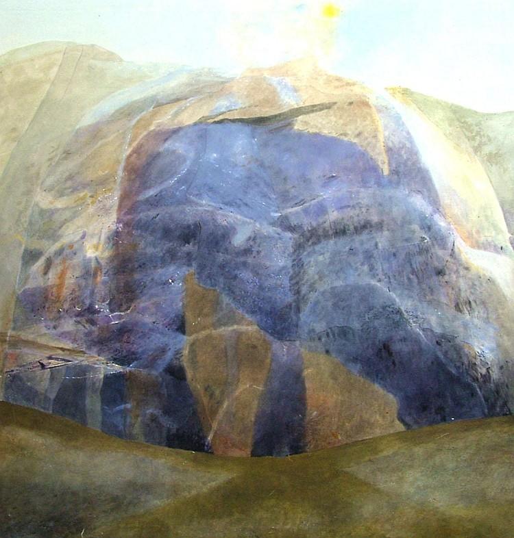 David Ireland b.1930- Untitled landscape study;
