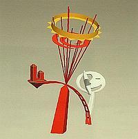"Phillip King CBE PRA b.1934- ""Sun and Moon"", 2004;"