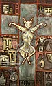 "Nina Hosali 1898-1987- ""Sacrifice""; oil on board,"