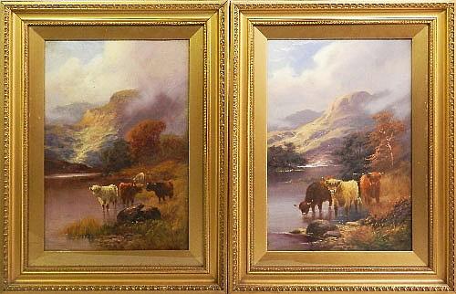Walter Langley, British 1852-1922- Highland cattle
