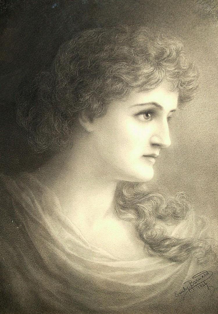 Emily Barnard SWA exh 1884-1911- Portrait of a