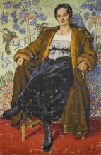 Joseph von Brackel, German 1874-1955- - Portrait of a woman, 1909;