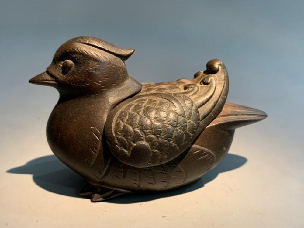Antique Chinese Bronze Bird Incense Burner