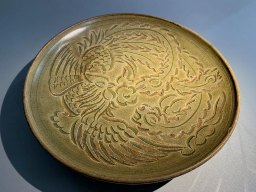 Antique Chinese Pheonix Plate