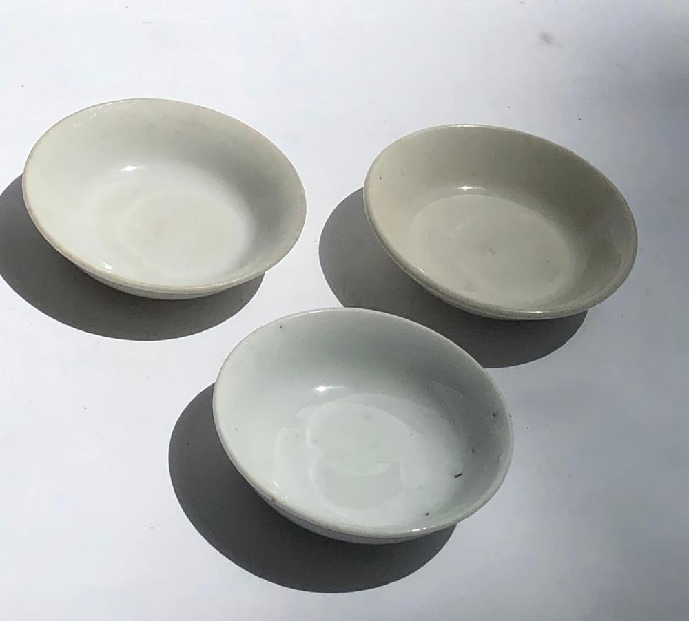 Three Antique Chinese Song Dishes