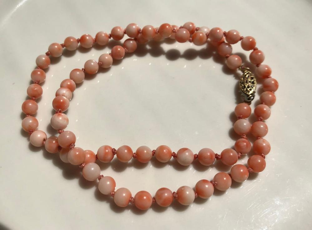 Vintage Pink Coral Necklace
