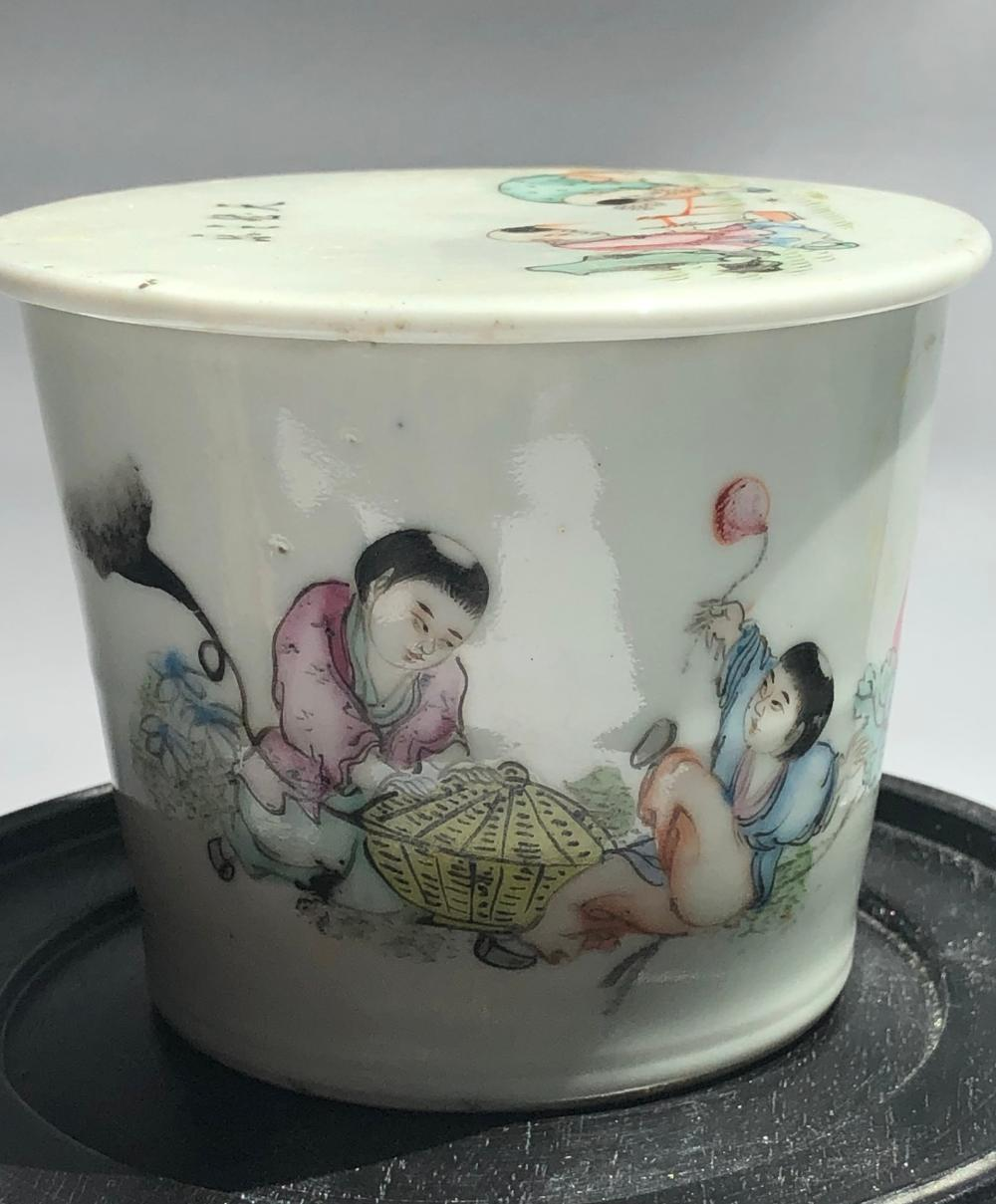Antique Chinese Famille Rose bowl with Cover